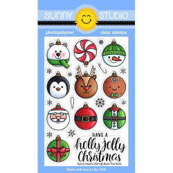 Deck the Halls, Sunny Studio Clear Stamps -
