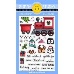 Holiday Express, Sunny Studio Clear Stamps -