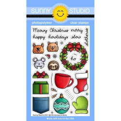 Christmas Critters, Sunny Studio Clear Stamps -