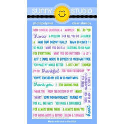 Words of Gratitude, Sunny Studio Clear Stamps -