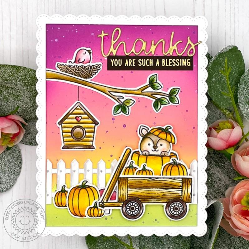 Fall Friends, Sunny Studio Clear Stamps -