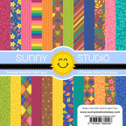 Sweater Weather, Sunny Studio 6 X 6 Paper Pad -