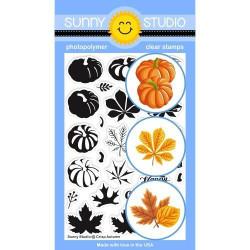 Crisp Autumn, Sunny Studio Clear Stamps -