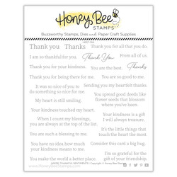 Inside: Thankful Sentiments, Honey Cuts Clear Stamps -