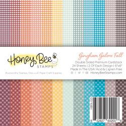 Gingham Galore: Fall, Honey Bee 6 X 6 Paper Pad -