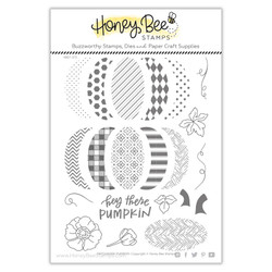 Patchwork Pumpkin, Honey Cuts Clear Stamps -