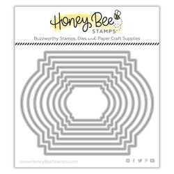 Stacking Art Deco Labels, Honey Cuts Dies -
