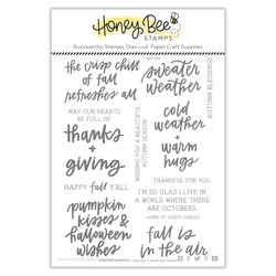 Sweater Weather, Honey Cuts Clear Stamps -