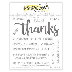 Thanks, Honey Cuts Clear Stamps -
