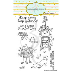 Keep Growing by Anita Jeram, Colorado Craft Company Clear Stamps -