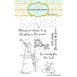 Flurries of Fun by Anita Jeram, Colorado Craft Company Clear Stamps -
