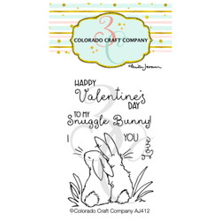 Snuggle Bunny Mini by Anita Jeram, Colorado Craft Company Clear Stamps -