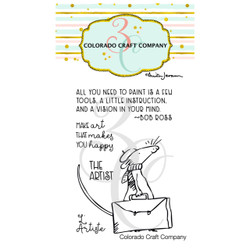 The Artist Mini by Anita Jeram, Colorado Craft Company Clear Stamps -