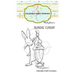 Sundae Funday Mini by Anita Jeram, Colorado Craft Company Clear Stamps -