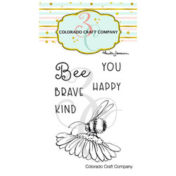 Bee You Mini by Anita Jeram, Colorado Craft Company Clear Stamps -