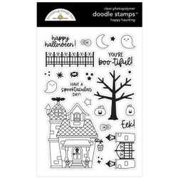 Happy Haunting, Doodlebug Clear Stamps -