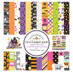 Happy Haunting, Doodlebug 12 X 12 Paper Pack -