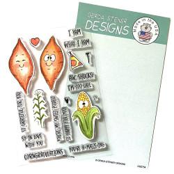 Yams & Corn, Gerda Steiner DesignsClear Stamps -
