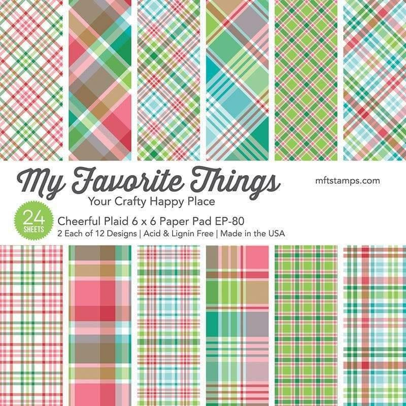 Cheerful Plaid by Miss Tiina, My Favorite Things Paper Pack -