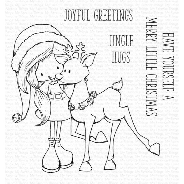 Jingle Hugs by Tiddly Inks, My Favorite Things Clear Stamps -