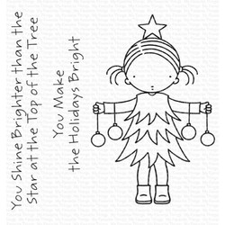Pure Innocence - Bright Holidays, My Favorite Things Clear Stamps -