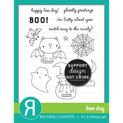 Boo Day, Reverse Confetti Clear Stamps -