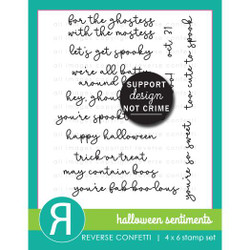 Halloween Sentiments, Reverse Confetti Clear Stamps -