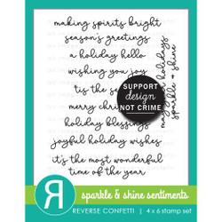 Sparkle & Shine Sentiments, Reverse Confetti Clear Stamps -