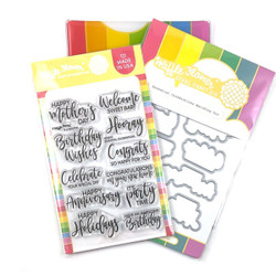 Essential Celebrations, Waffle Flower Stamp & Die Combo -