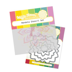 Mandala, Waffle Flower Stencil & Die Combo -