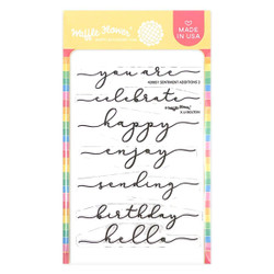 Sentiment Additions 2, Waffle Flower Clear Stamps -
