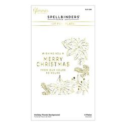 Holiday Florals Background Glimmer, Spellbinders Hot Foil Plates -