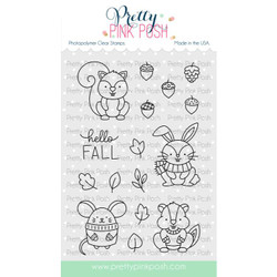 Cozy Fall Critters, Pretty Pink Posh Clear Stamps -