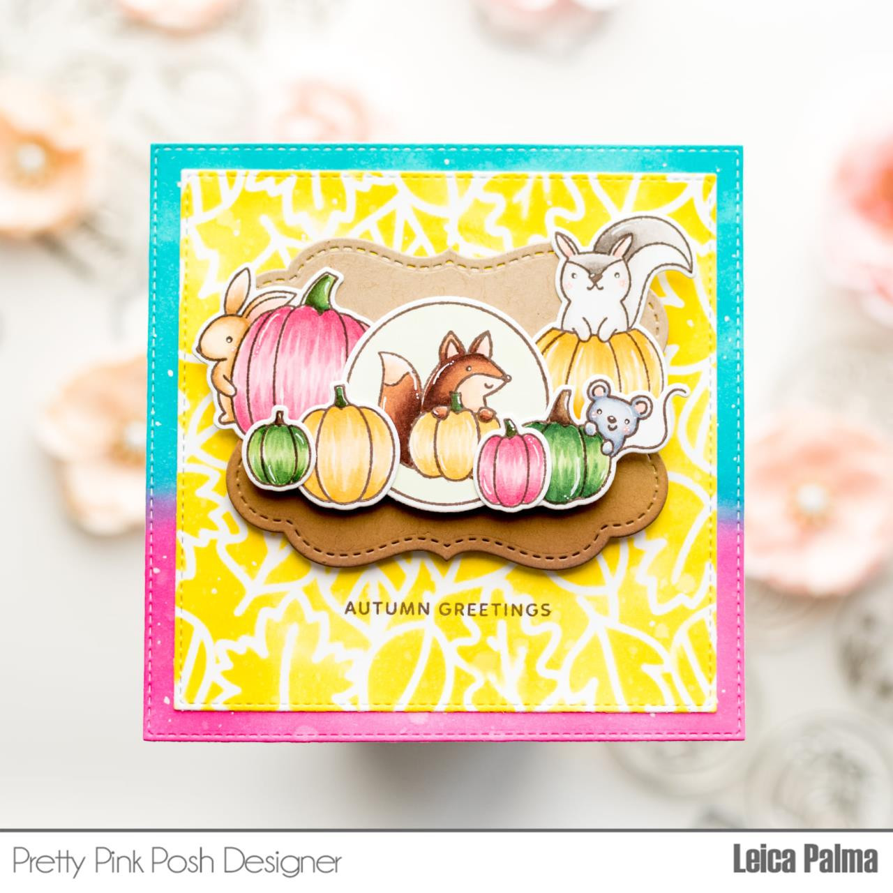 Fall Circles, Pretty Pink Posh Clear Stamps -