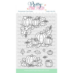 Fall Corners, Pretty Pink Posh Clear Stamps -