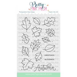 Falling Leaves, Pretty Pink Posh Clear Stamps -