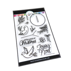 Adorning Doves, Catherine Pooler Clear Stamps -