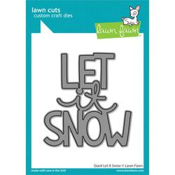 Giant Let It Snow, Lawn Cuts Dies -