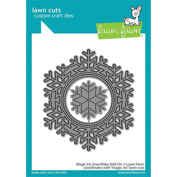 Magic Iris Snowflake Add-On, Lawn Cuts Dies -