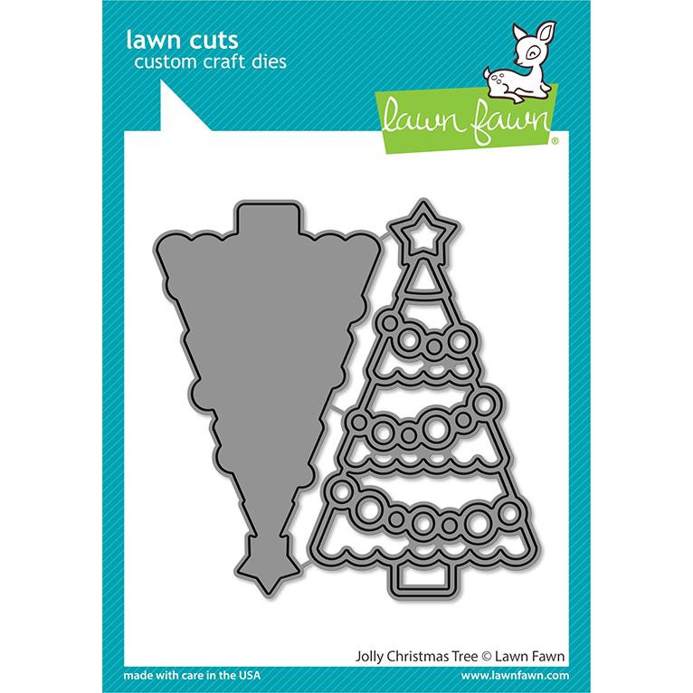 Jolly Christmas Tree, Lawn Cuts Dies -