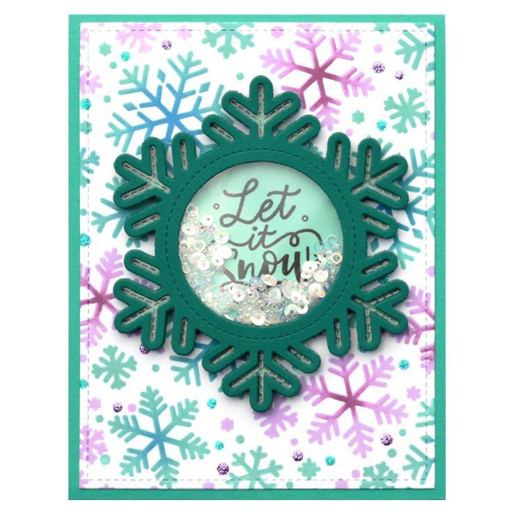 Stitched Snowflake Frame, Lawn Cuts Dies -