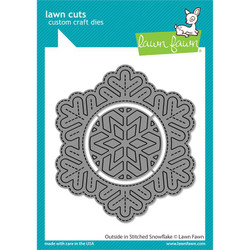 Outside In Stitched Snowflake, Lawn Cuts Dies -