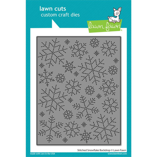 Stitched Snowflake Backdrop, Lawn Cuts Dies -