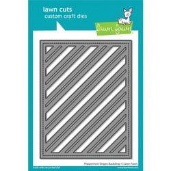 Peppermint Stripes Backdrop, Lawn Cuts Dies -