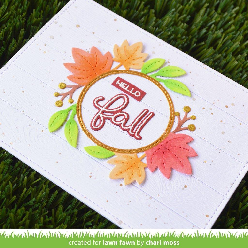 Scripty Autumn Sentiments, Lawn Cuts Dies -