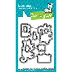 Purrfectly Wicked Add-On, Lawn Cuts Dies -