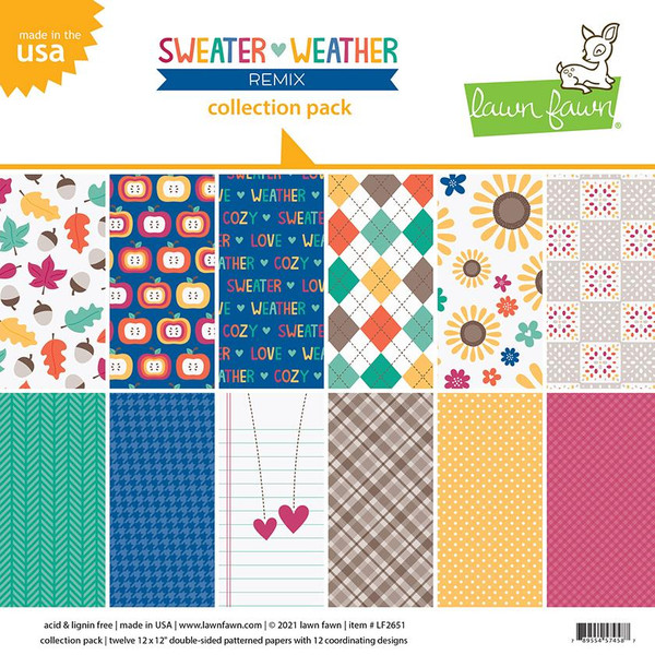 Sweater Weather Remix, Lawn Fawn Collection Pack -