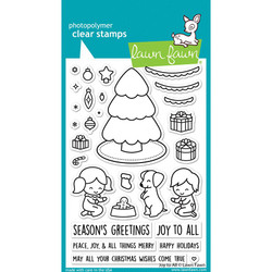 Joy to All, Lawn Fawn Clear Stamps -