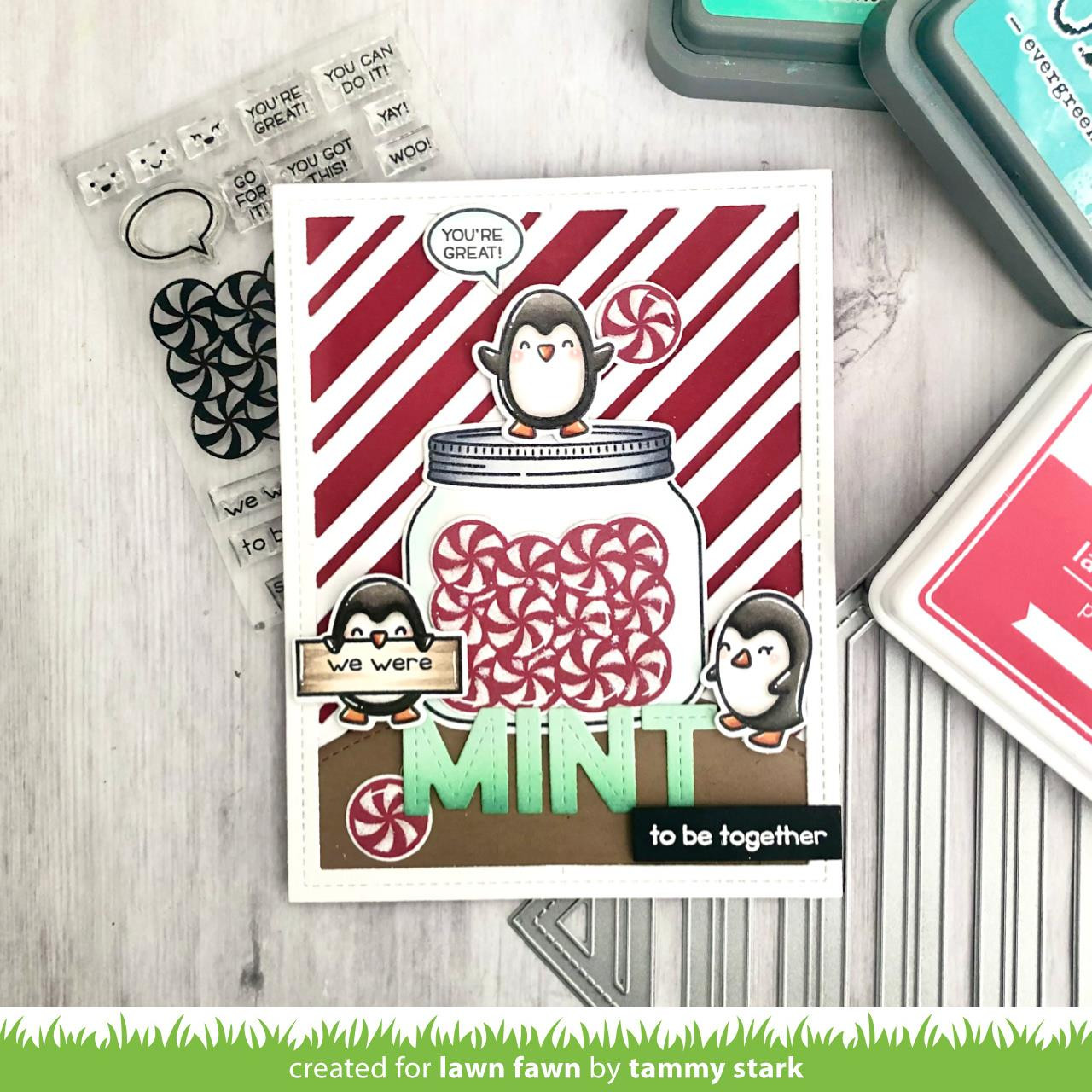 Penguin Party, Lawn Fawn Clear Stamps -