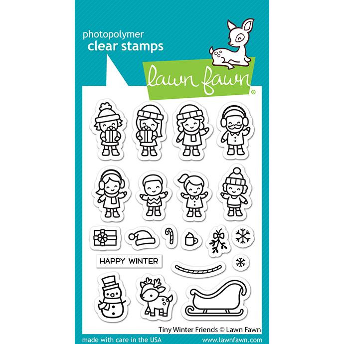Tiny Winter Friends, Lawn Fawn Clear Stamps -